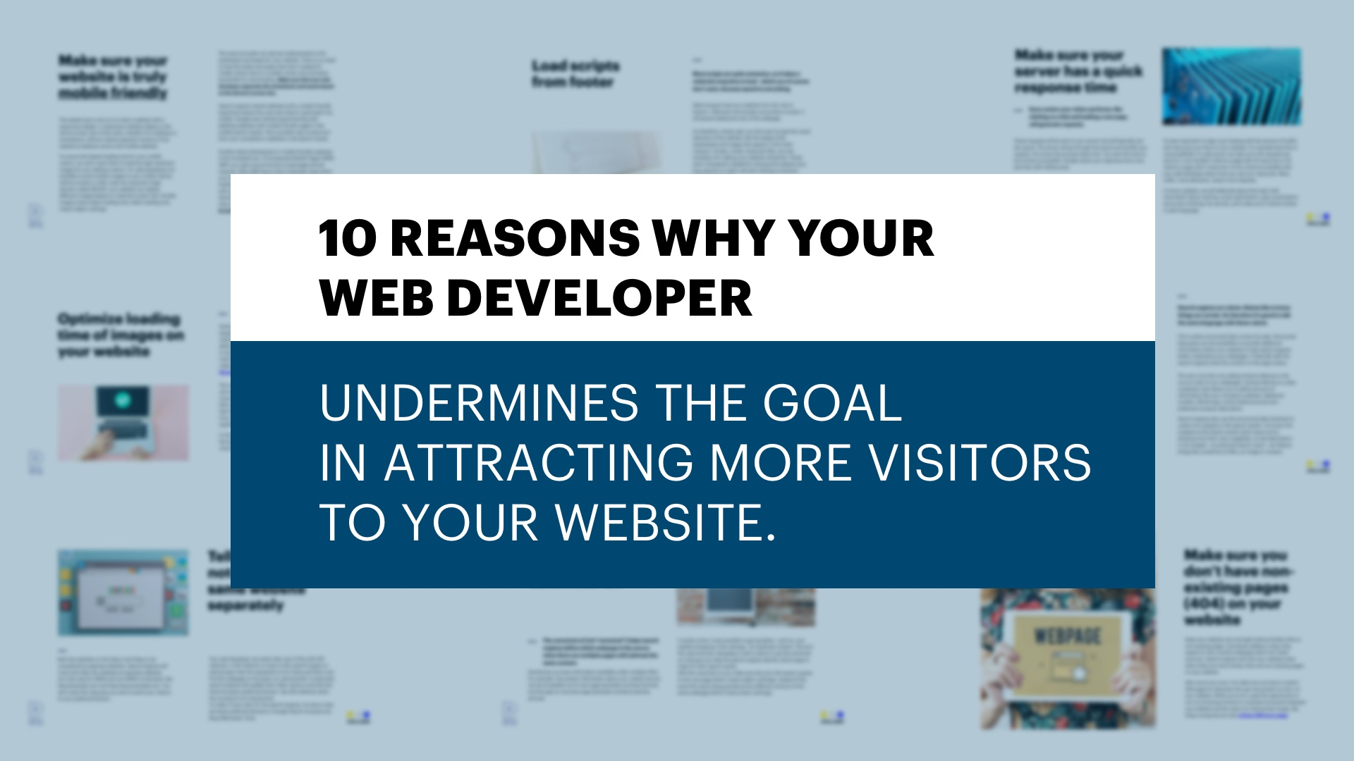 Tip Sheet for attracting more visitors to your website